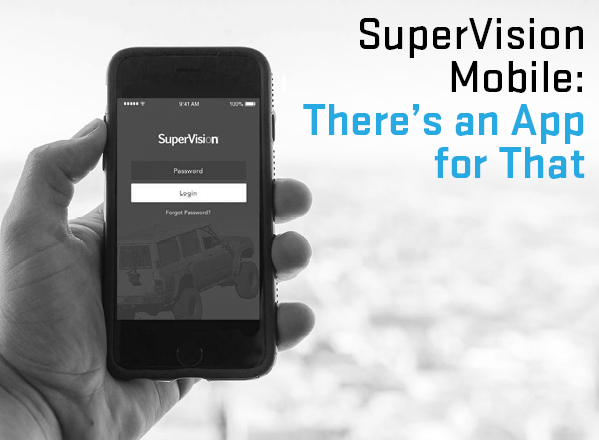 MVR monitoring made easy with the SuperVision Mobile App