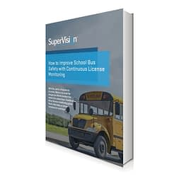 school bus safety with continuous license monitoring